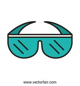 glasses protection and prevention accessory line and fill icon