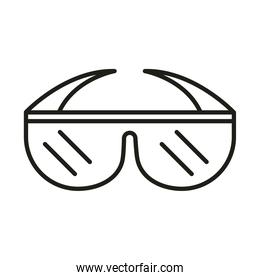 glasses protection and prevention accessory line icon