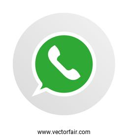 social media logo, whatsapp instant messaging app
