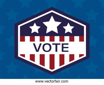 usa elections day poster with stars and emblem