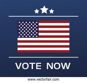 usa elections day poster with flag and stars