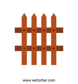 fence wooden flat style icon