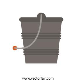 gardening bucket with sand flat style icon