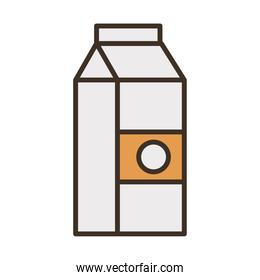 milk box packing fill style icon