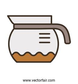 taepot with coffee drink fill style icon