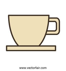 coffee ceramic cup drink fill style icon