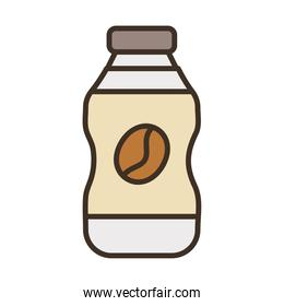 bottle with coffee grain fill style icon