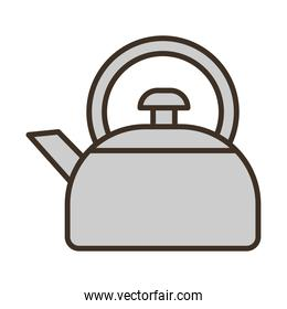 coffee kettle utensil fill style icon