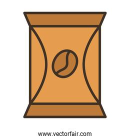 coffee product packing bag fill style icon