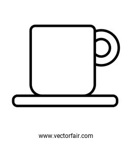 coffee ceramic cup drink line style icon