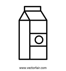 milk box packing line style icon