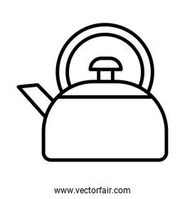 coffee kettle utensil line style icon