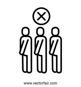 avoid crowds line style icon