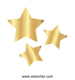 golden stars decoration isolated icons