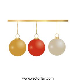 christmas balls hanging decorative icons