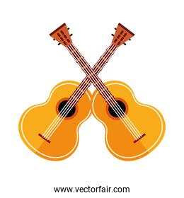 guitars musical instruments isolated icons
