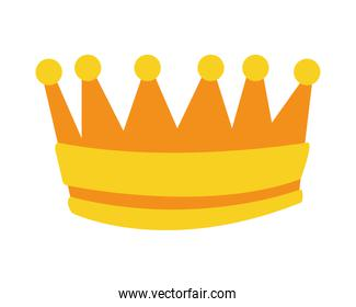golden crown queen isolated icon
