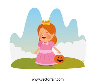 cute little girl dressed as a princess character