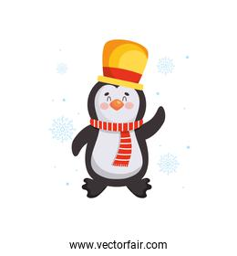 christmas characters concept, christmas penguin icon