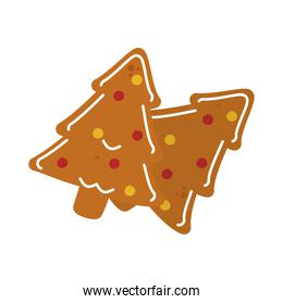 christmas trees cookies icon, handrawn style