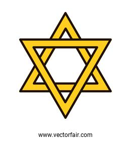 star of david icon, line and fill style