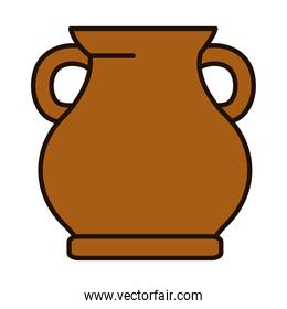 clay jug icon, line and fill style