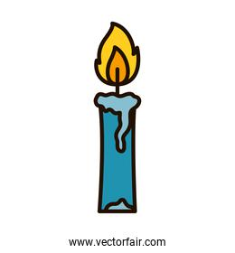 candle burning icon, line and fill style