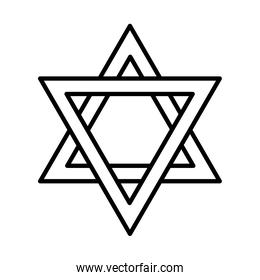 star of david icon, line style