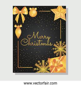 christmas black elegant card design with decorative related elements