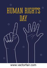 human rights design with hands