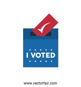i voted lettering with voting box