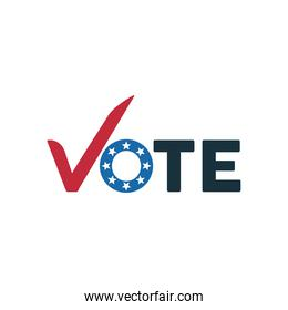vote word election day with check symbol