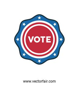 vote word election day in lase seal