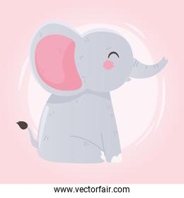 baby shower, cute little elephant animal