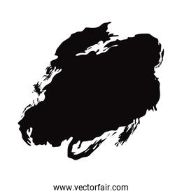 black brush stroke grunge abstract painted element