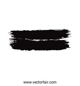 grunge artistic black brush stroke creative design