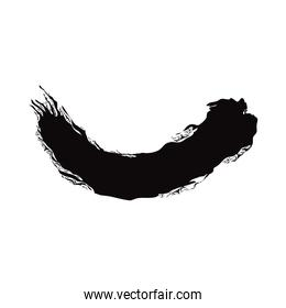 grunge hand drawn paint brush curved stroke