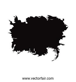 abstract black stroke figure isolated white background