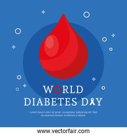 world diabetes day campaign with blood drop
