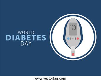 world diabetes day campaign with glucose meter