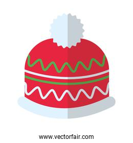 happy merry christmas hat flat style icon