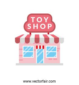 little toy shop store building facade scene
