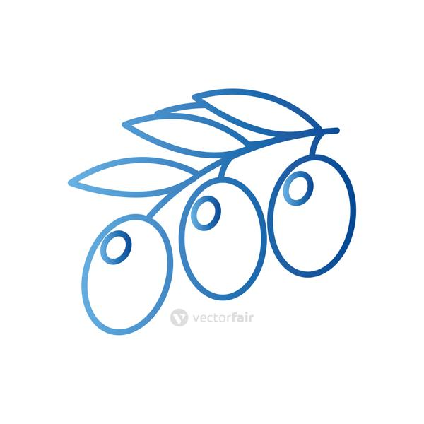 olives gradient style icon vector design