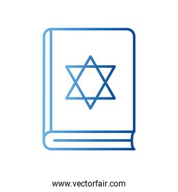 jewish torah book gradient style icon vector design