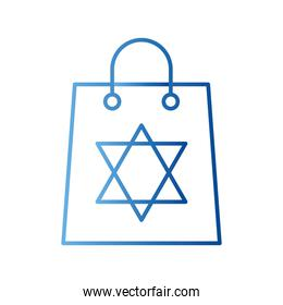 jewish star gradient style icon vector design