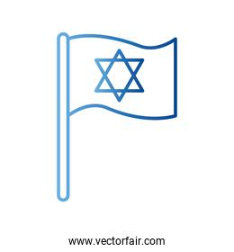 jewish flag gradient style icon vector design