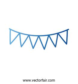Party banner pennant gradient style icon vector design