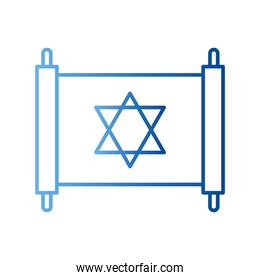 jewish torah gradient style icon vector design