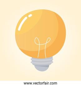 light bulb energy electricity cartoon icon
