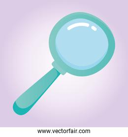 magnifying glass search analysis cartoon icon